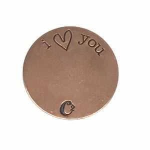 Origami Owl Copper I Love You Key Plate